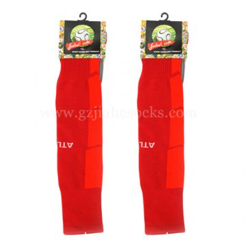 Knee High Custom red color football Socks in China