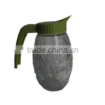 large capacity kettle with cover and handle Huge water bottle with handle /fruit juice mugs glass bottles in the kitchen