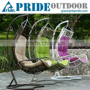 Modern Rattan Wicker Furniture Indoor Indian Swing Hanging Chairs For Bedrooms Wrought Iron Patio Quality