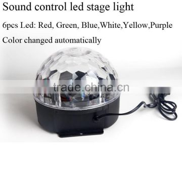 Sound control laser LED stage light color changing automatically stage light led star master