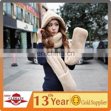 3 in 1 multifunctional plush scarf