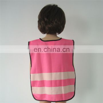 Safety products 2015 clothing high reflective pink motorcycle children child safety vest