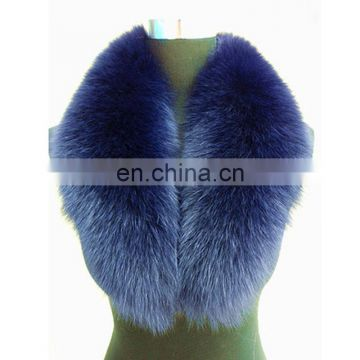 Tongxiang luxury fox fur collar with clip/elastic for winter clothes accessories