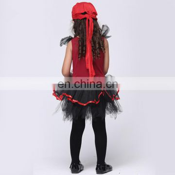 Fctory direct sale halloween style pirate cosplay costume for girls