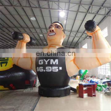 2017 Hot sale Outdoor 5 m high giant anytime fitness inflatable muscle man for fitness club from custom inflatable manufacturer