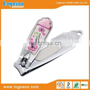 Custom nail clipper epoxy stiker logo souvenir nail clipper cutter