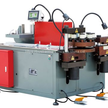 Three In One Copper Bar Cutting Bending Punching Machine PLC Control For Copper Bar