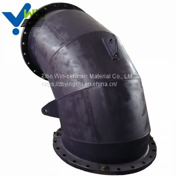 Wear resistant material ceramic lined elbow stainless steel pipe with low price