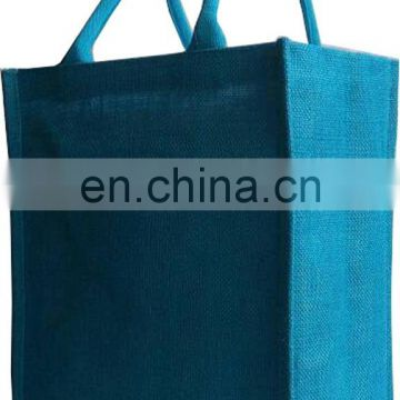 Natural 6 Bottles Jute Wine Bag with customized printing for promotion
