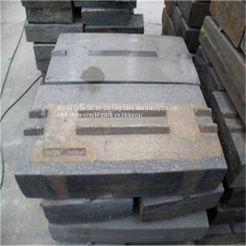 High chrome casting impact crusher spare parts blow bar for stone crusher
