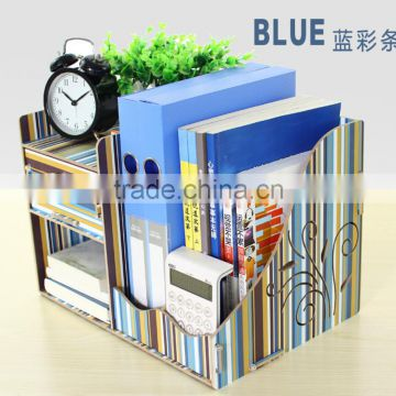 Wooden Bookend Storage Holder Modern Decorative Bookends wood desk organizer rack