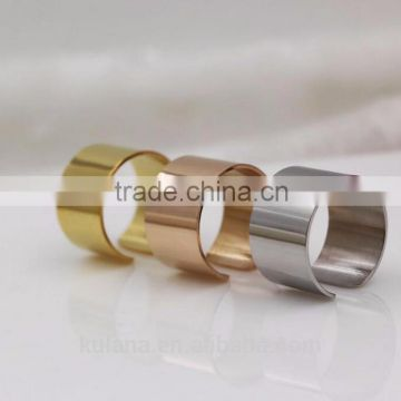Korean Show Stainless Steel ladies gold finger ring silver ring designs for girl