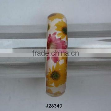 sun flower pattern Resin Bangles available in all colours