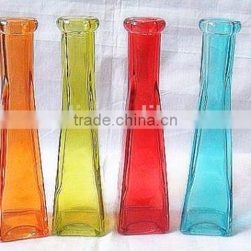 high quality colored glass vase for sale