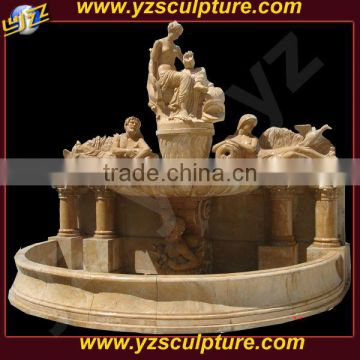 natural stone large landscape wall fountain with figuire statues