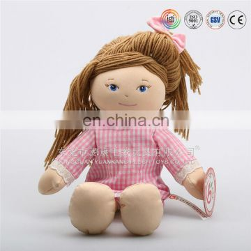 stuffed plush toy love doll with plastic face