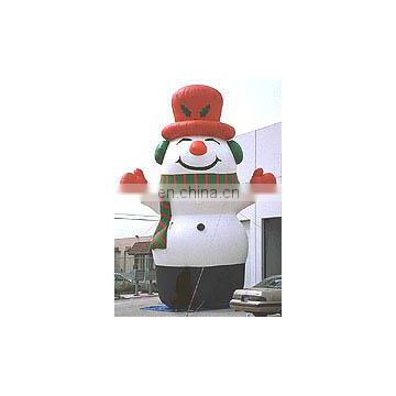 new year christmas holiday customized advertising model Christmas decorations inflatable snow man for sale