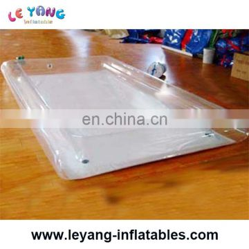 Transparent color PVC inflatable swimming pool for kids or adults