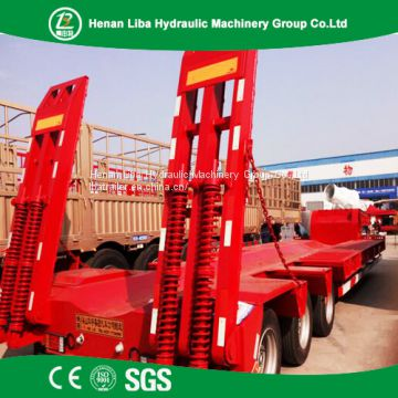 High Quality Lowbed Semi Trailer Used to Transport Large Heavy Equipment Easily