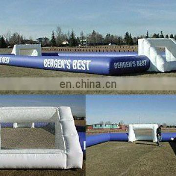 Inflatable human soccer playground