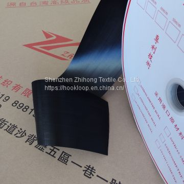 Black super thin ultra fine molded Injection soft hook nylon plastic fastener tape for  medical supplies