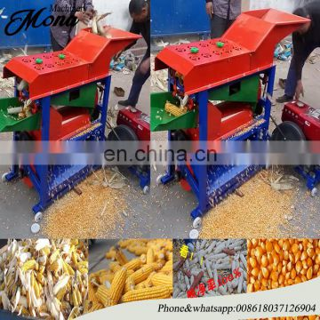 left and right combination corn peeler and sheller