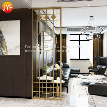 JYFQ0079 hopping Mall Hall And Dining Metal Panels Stainless Steel Room Divider Cut Decorative