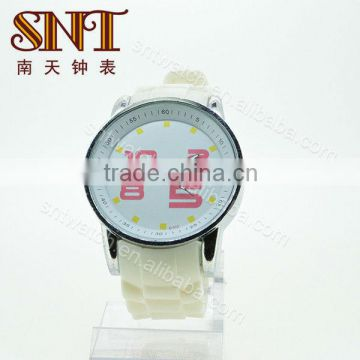 SNT-SI018 lady silicone watch fashion custom silicone wrist watches