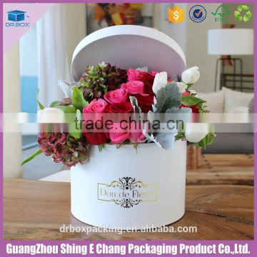 Colorful Flower Decoration Cardboard Gold Stamping Print Flower Hat