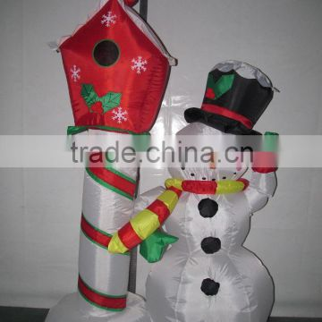DK-891 snowman and Cuckoo inflatable decor christmas ornament 5ft