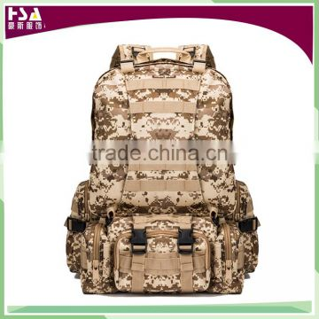 Waterproof nylon outdoor multi-function removable backpack high quality hiking military backpack