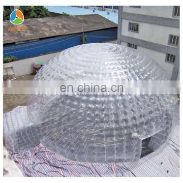 Transparent inflatable igloo tent,igloo inflatable clear tent