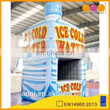 2015 hot sale bottle shape sealed inflatable advertising tent for show