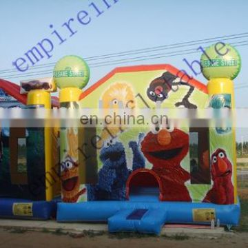 Sesame Theme Castle, character castle, inflatable bouncers