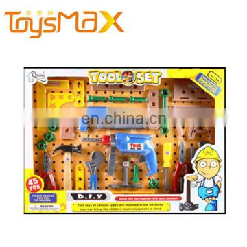 Child plastic toy mechanic tool box set