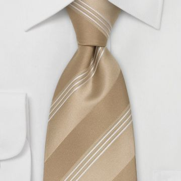 Gold Classic Strips Mens Jacquard Neckties Knit Summer