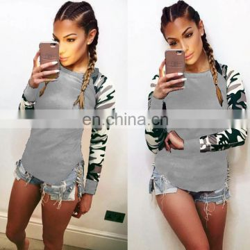 Army Military Camouflage Tactical Women Long Sleeve Fitness T-Shirt