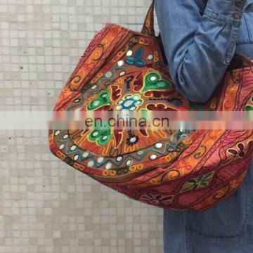 Indian Tote Bag embroidered Hmong Tote Bag Purse large ethnic New Handbag Embroidered Kutch Style Shoulder Bag Tribal wholesale
