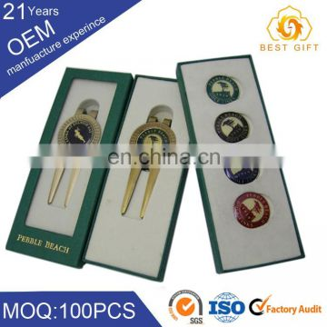 Made In China Wholesale Market Golf Ball Marker Hat Clip Divot Tool