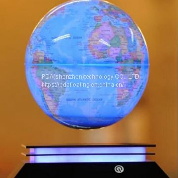 new led light base magnetic floating bottom globe 6inch 7inch 8 inch toys