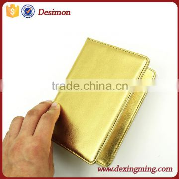 custom metal style Leather passport holder