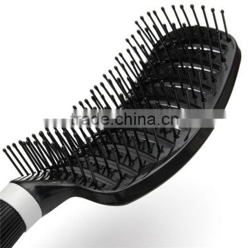 Hot Selling Portable Barber Anti-static Soft Curved Vent Salon Hairdressing Tool Rows Tine Comb Hair Brush Plastic 26.5 x 7.5cm
