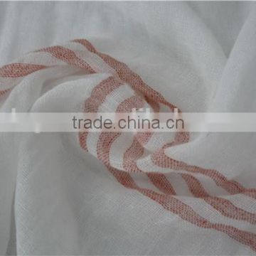 100% Cotton Yarn Dyed Stripe Long Scarf