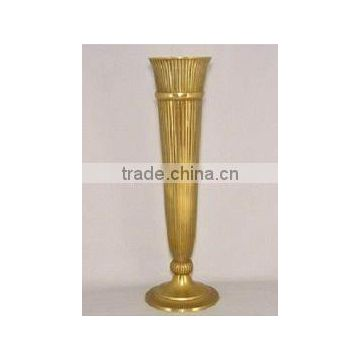 gold plated metal tall fancy trumpet for wedding