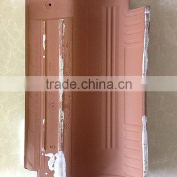 China new product ceramic roof tiles, red color glazed clay building materials