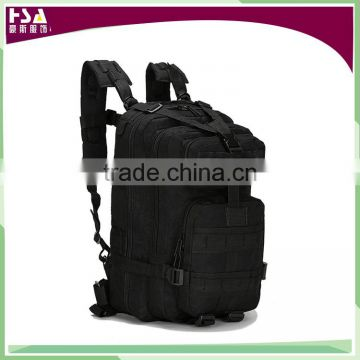 High quality 600D nylon waterproof black backpack tactical