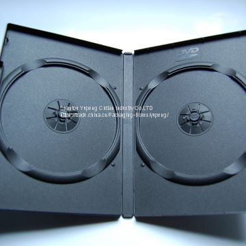 14mm rectange pp DVD Case DVD Cover DVD Box double Black china factory (YP-D802H)