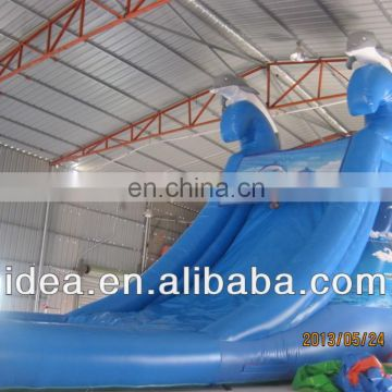 Inflatable dolphin slide,inflatable pool slide WS045