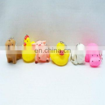 Key ring small rubber animal toys