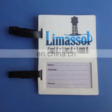 Customized soft pvc travel luggage tag with Cyprus lighthouse scenery